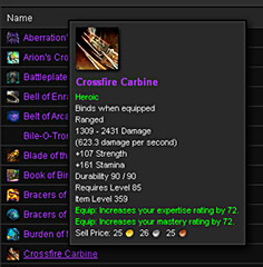 Item Tooltips For World Of Warcraft Have Been Added To The DKP Module Mousing Over WoW Items Will Now Display Information Colored Your