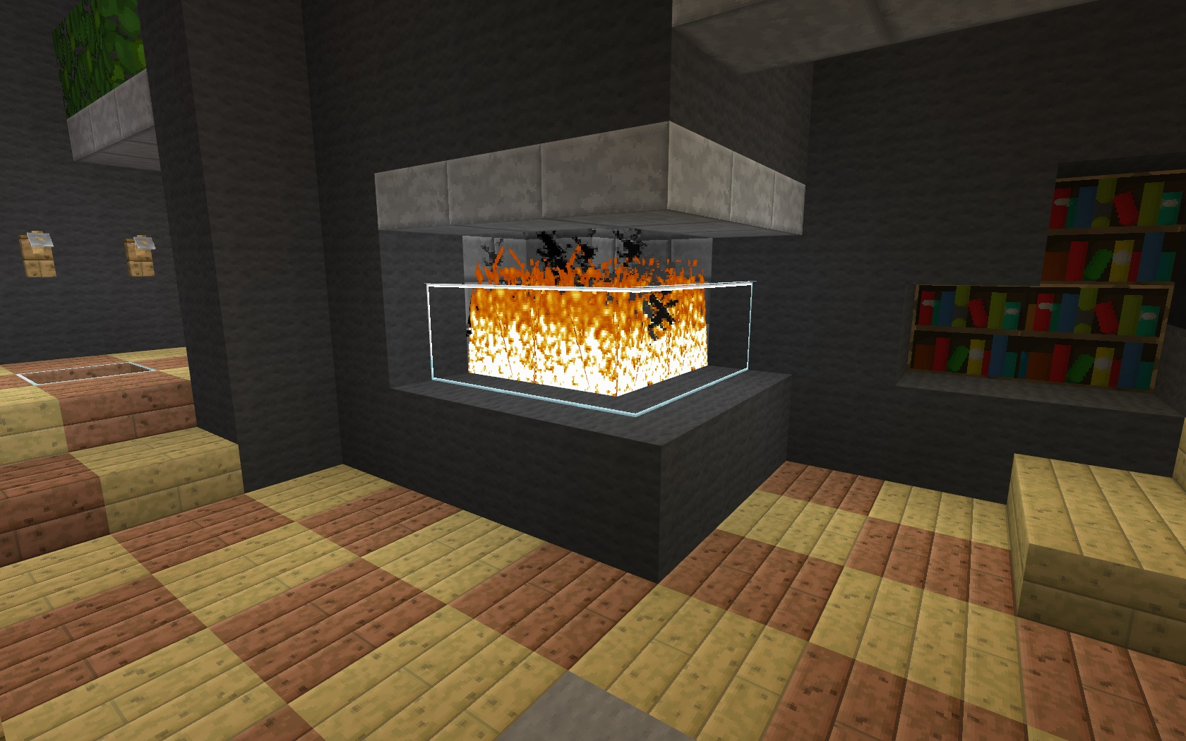 Minecraft furniture fireplaces for Bedroom ideas with fireplace