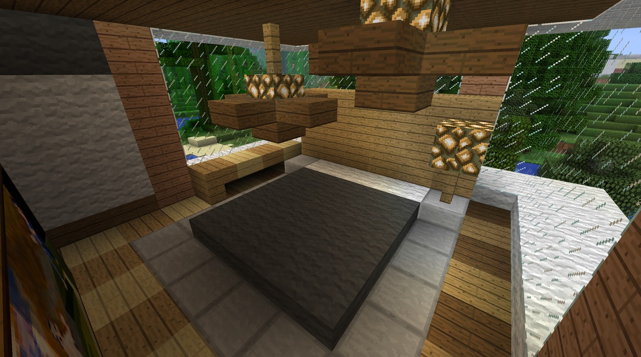Bed design minecraft home decoration live for Dining room designs minecraft