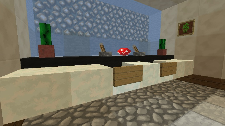 minecraft bathroom sink - Minecraft Bathroom Designs