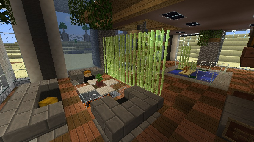 Minecraft furniture decoration sugarcane divider for Minecraft living room ideas xbox