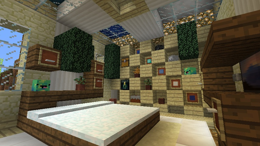 Minecraft furniture storage for Minecraft dining room designs