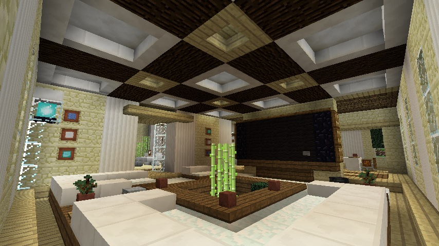 Minecraft furniture ideas living room Living room furniture minecraft