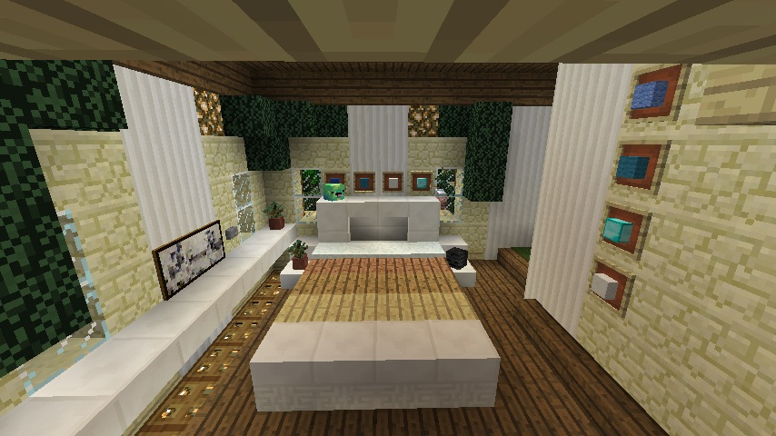 A multi tone slab bed. Minecraft Furniture   Bedroom