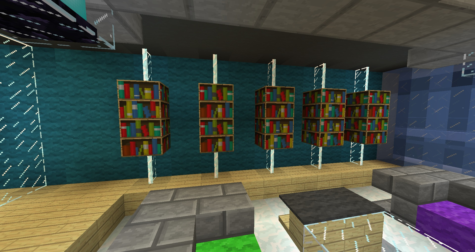 Minecraft Furniture Storage Hanging Shelves