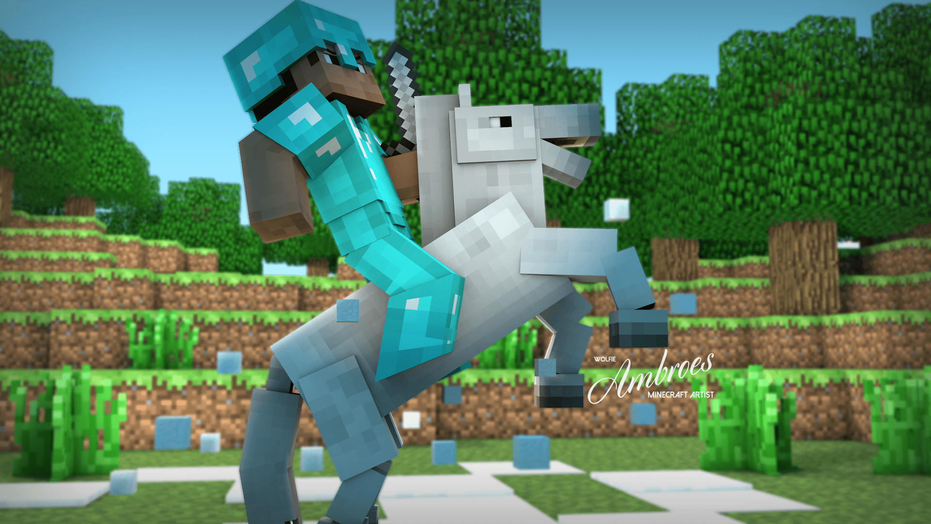 cool minecraft wallpapers steve